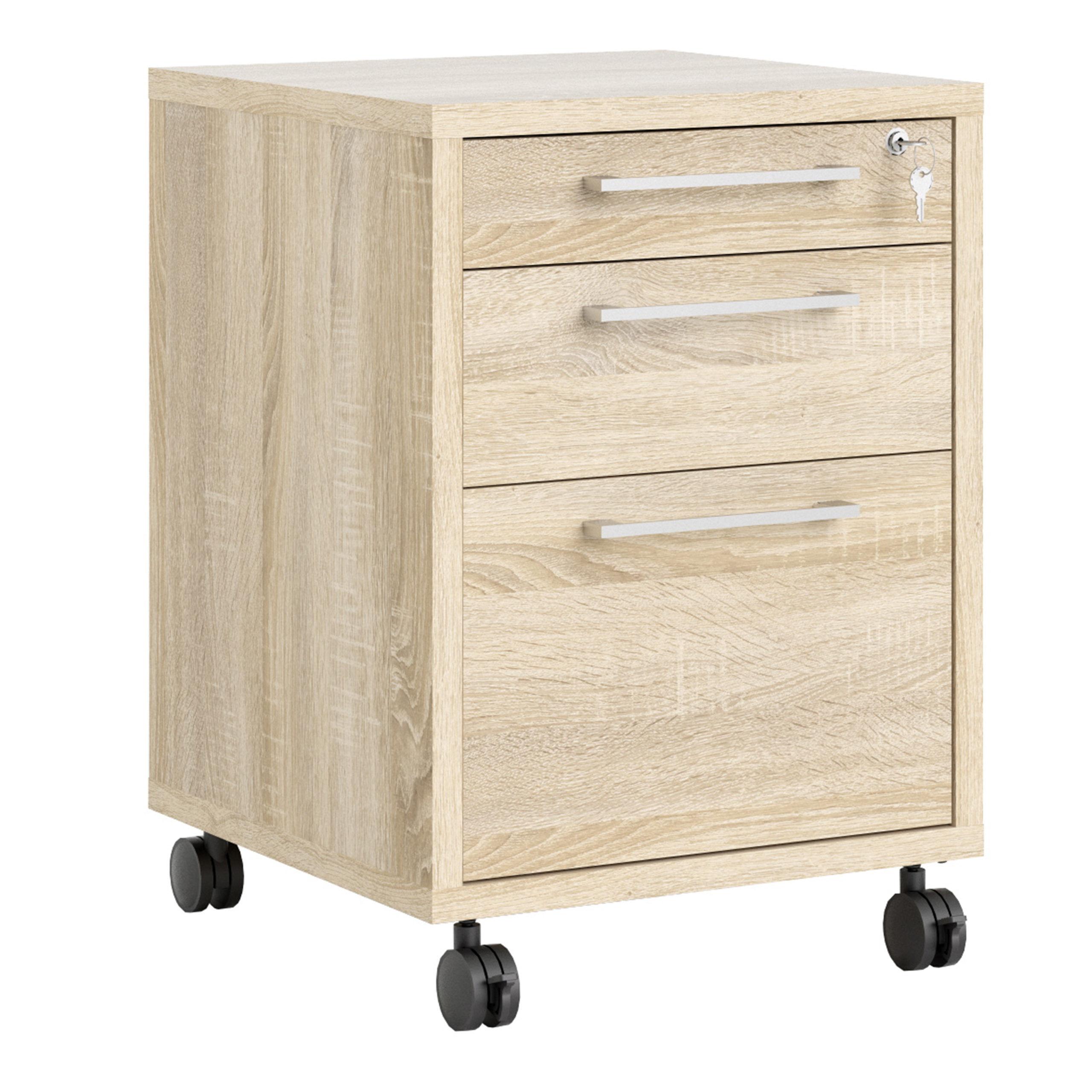 Kansas Mobile File Cabinet in Oak   Self Assembly