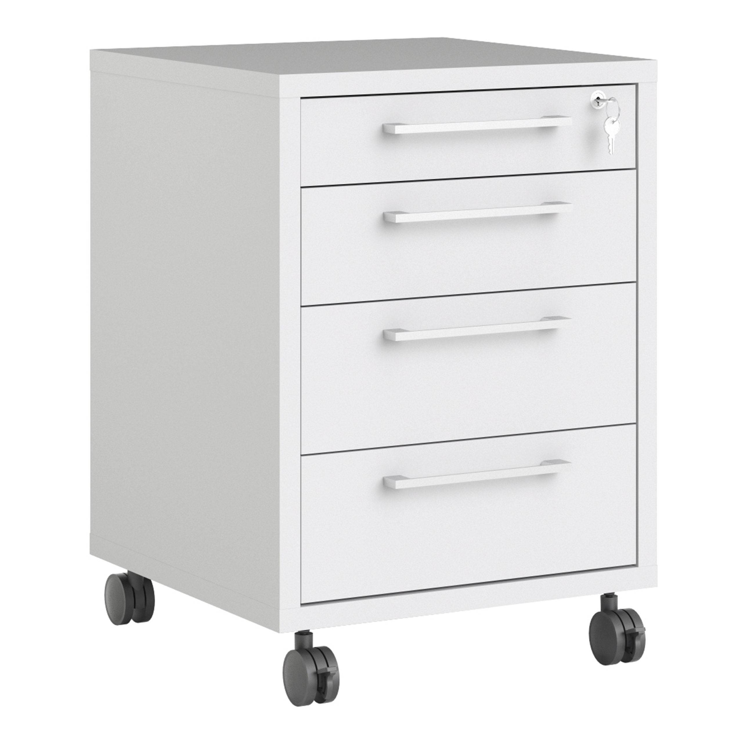 Kansas Mobile Cabinet in White   Self Assembly