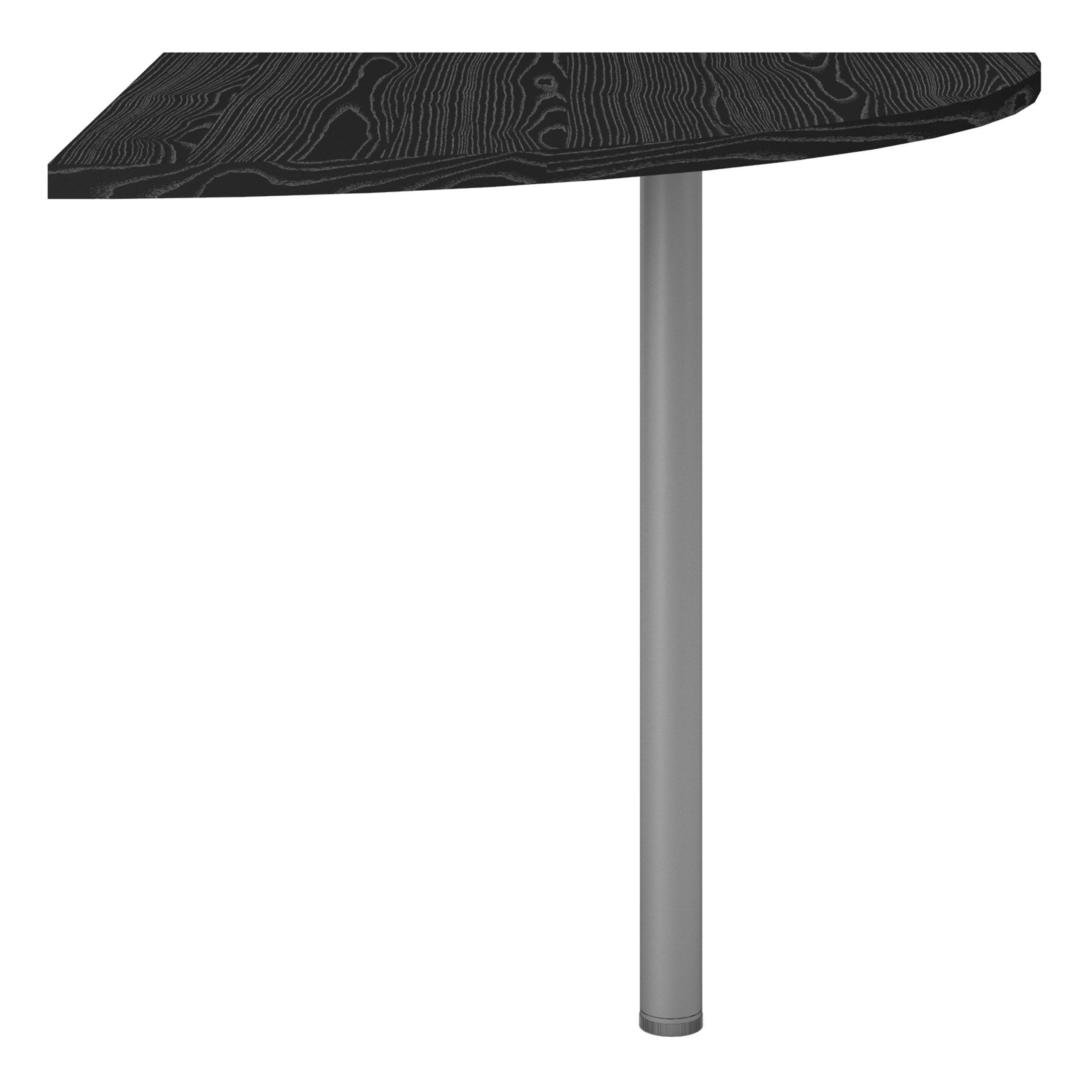 Kansas Corner Desk Top in Black Woodgrain with Silver Grey Steel Legs   Self Assembly