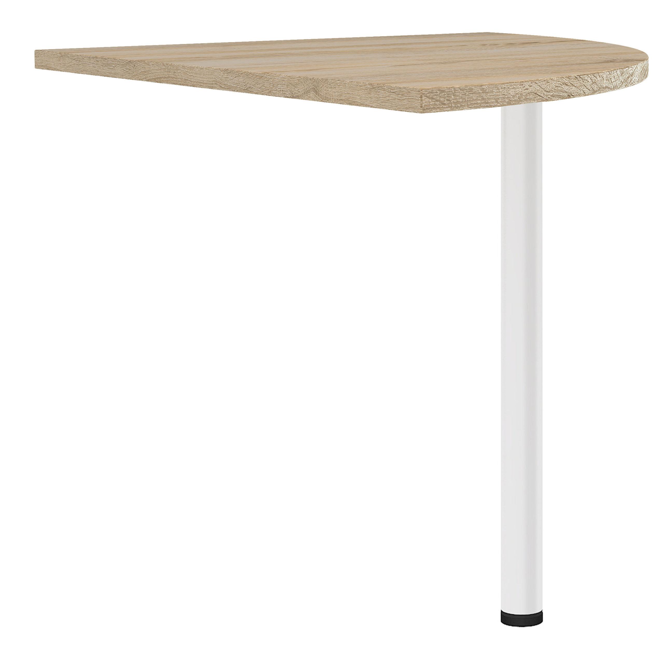 Kansas Corner Desk Top in Oak with White Legs   Self Assembly