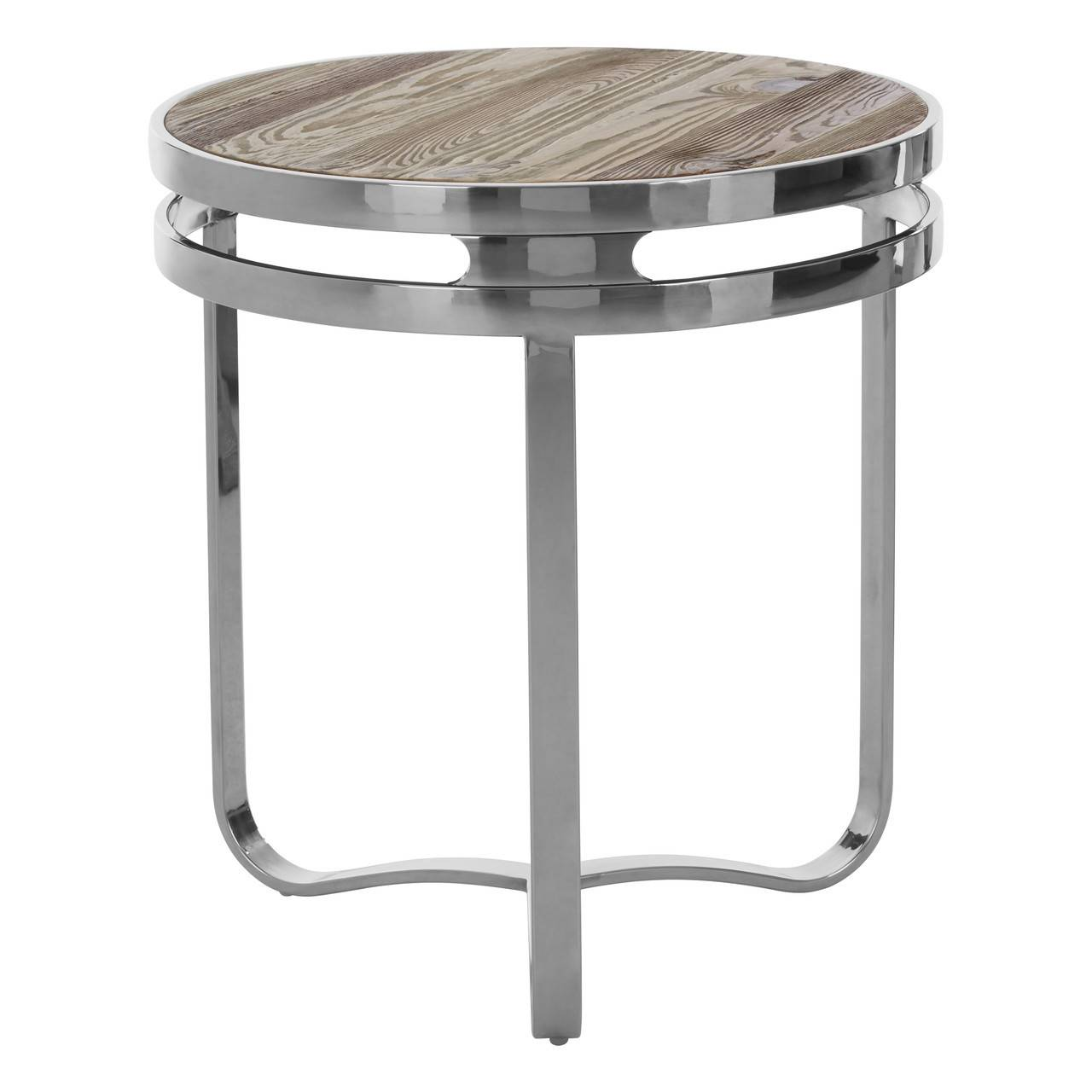 Plymouth Round Side Table   Natural Pine Wood