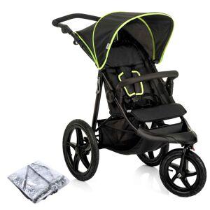 Hauck Runner 3 Wheel Pushchair - Black / Neon Yellow