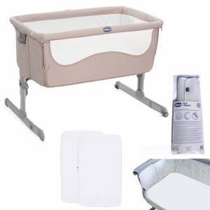 Chicco 4 Piece Next2Me Bedside Crib Bundle - Chick to Chick