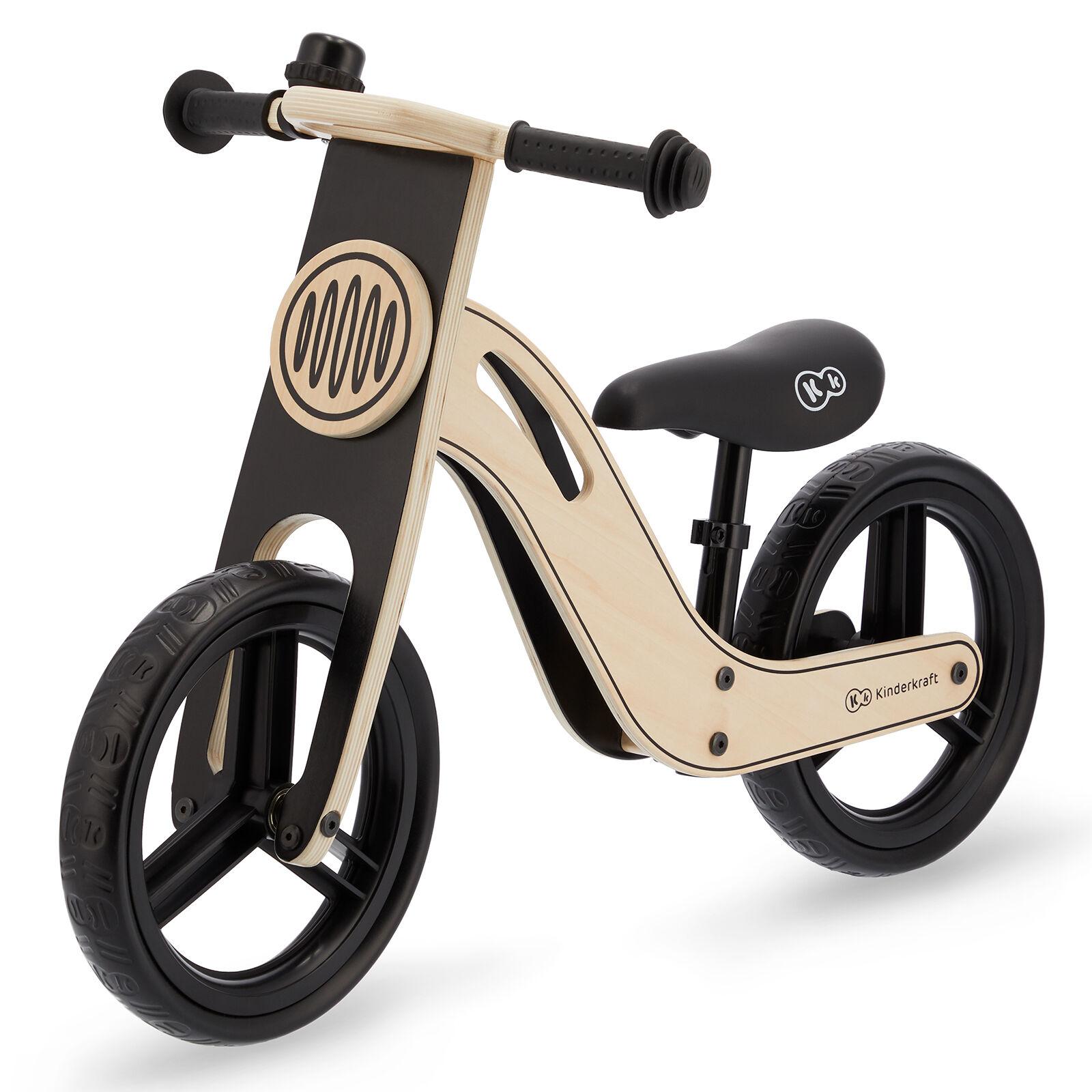 Kinderkraft Uniq Wooden Balance Bike - Natural
