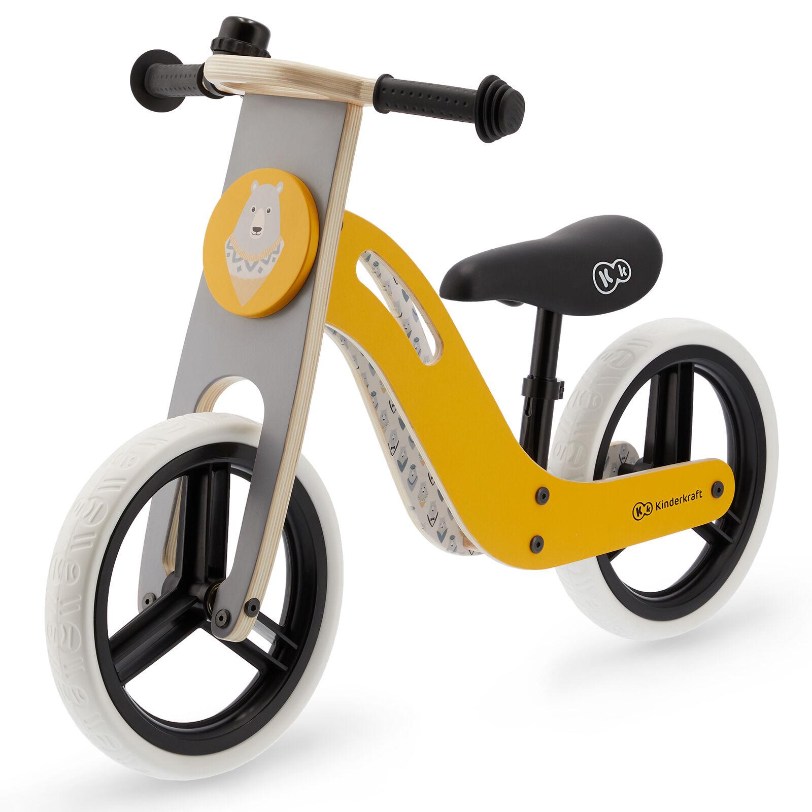 Kinderkraft Uniq Wooden Balance Bike - Honey