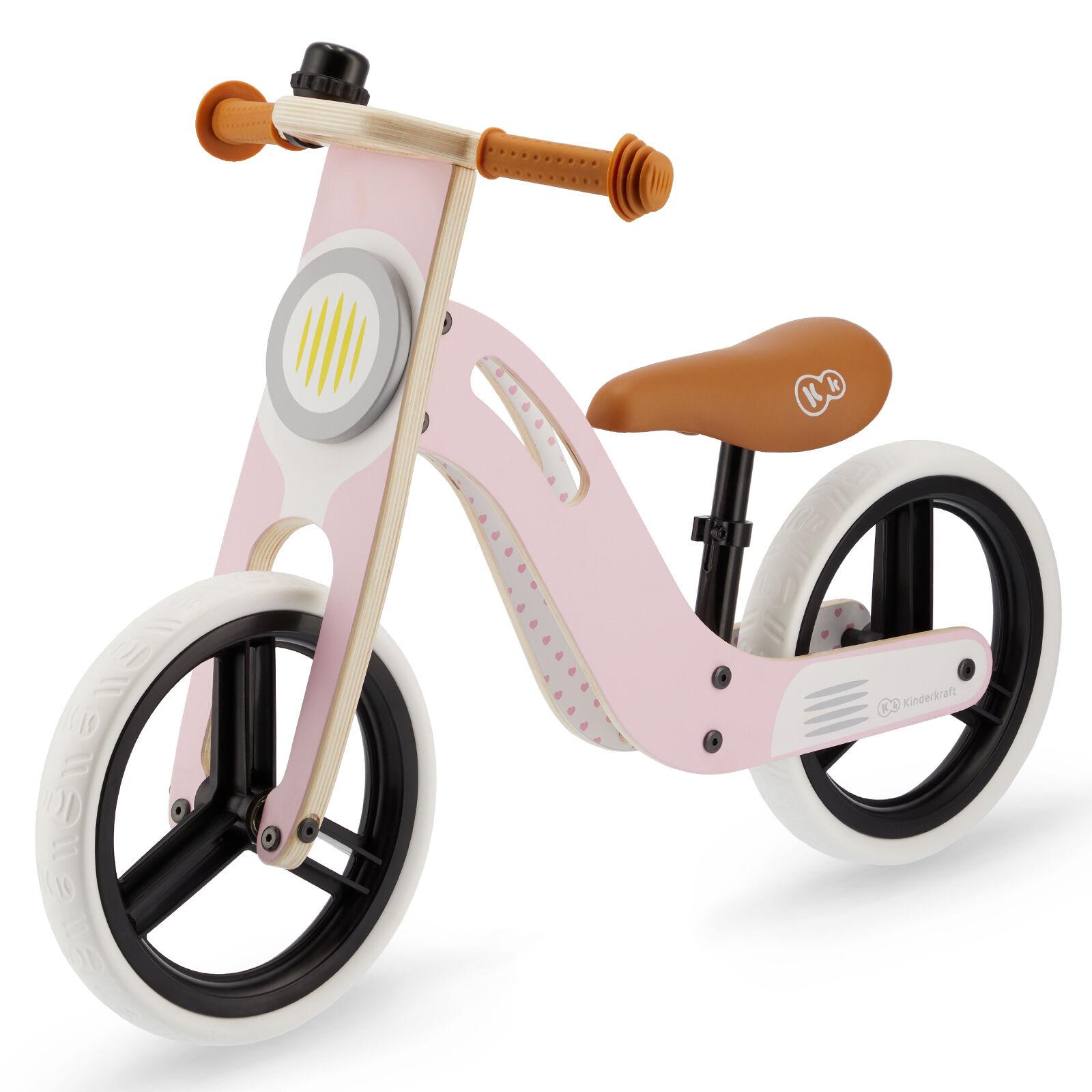 Kinderkraft Uniq Wooden Balance Bike - Pink