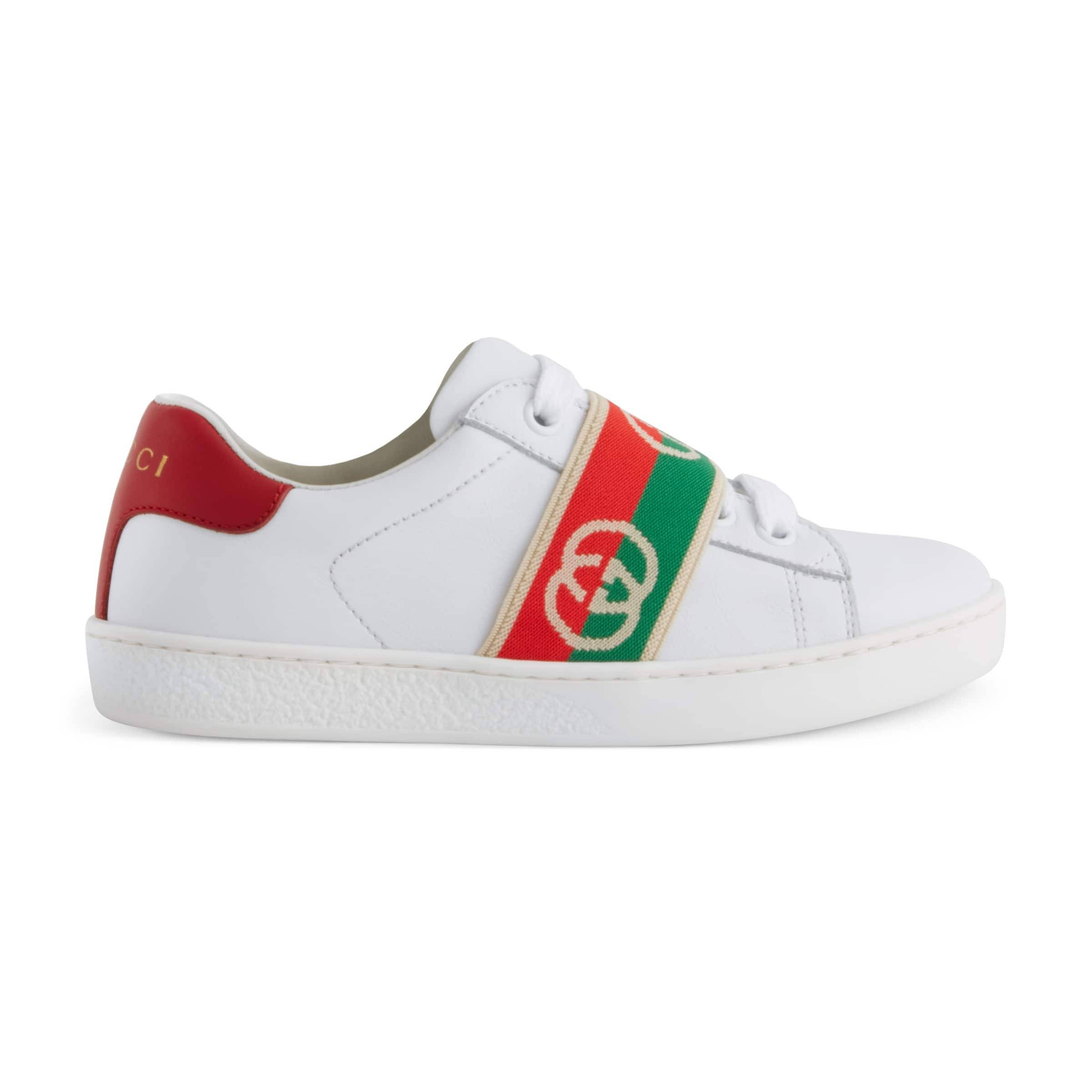 Gucci Children's Ace sneaker with Interlocking G  - White