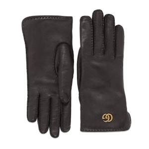 Gucci Leather gloves with Double G  - Black - Size: 6,6+,7,7+,8,8+
