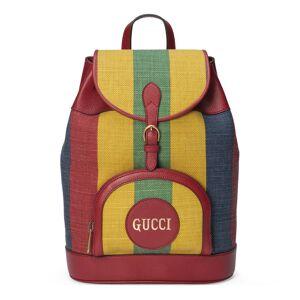 Gucci Baiadera stripe canvas backpack  - Yellow - Size: U