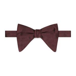 Silk bow tie  - Bordeaux - Size: U