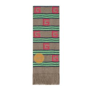 Capri striped modal silk stole  - Beige - Size: U