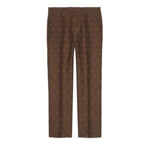 GG stripe wool silk tailored pant  - Brown - Size: 44,46,48,50,52,54,56