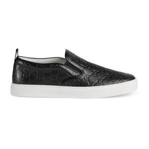 Gucci Men's Gucci Signature slip-on sneaker  - Black - Size: 10,10+,11,11+,12,12+,13,13+,14,14+,15,4+,5,5+,6,6+,7,7+,8,8+,9,9+