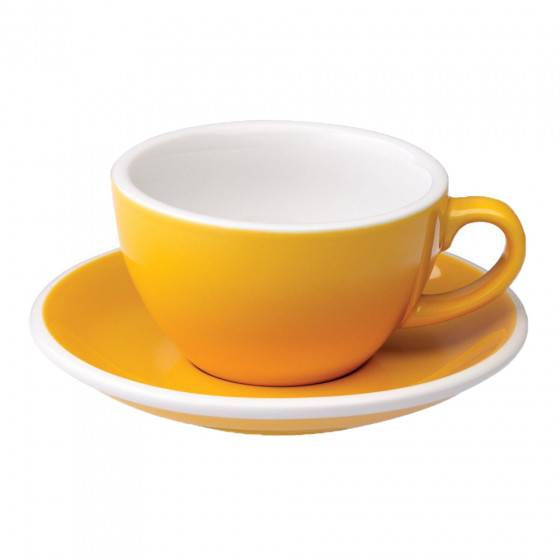 "Loveramics Cappuccino cup with a saucer Loveramics ""Egg Yellow"", 200 ml"