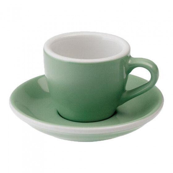 "Loveramics Espresso cup with a saucer Loveramics ""Egg Mint"", 80 ml"