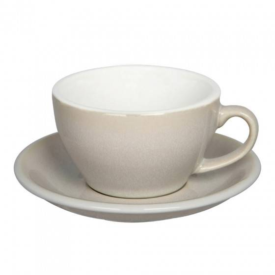 """Loveramics Cappuccino cup with a saucer Loveramics """"Egg Ivory"""", 200 ml"""