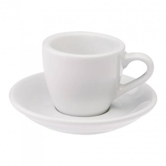 "Loveramics Espresso cup with a saucer Loveramics ""Egg White"", 80 ml"