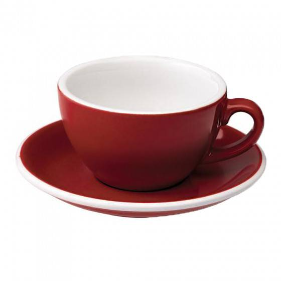 """Loveramics Cappuccino cup with a saucer Loveramics """"Egg Red"""", 200 ml"""