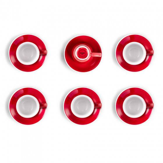"Loveramics Espresso cup set with a saucer Loveramics ""Egg Red"", 80 ml, 6 pcs."