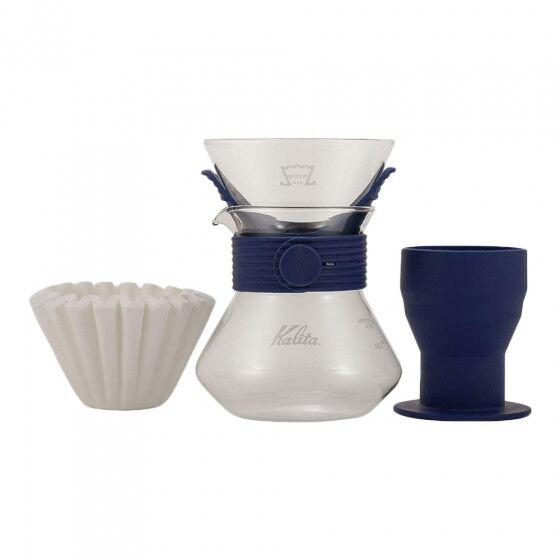 """Kalita Coffee brewing set Kalita """"Wave Style Up 185 (Navy)"""""""