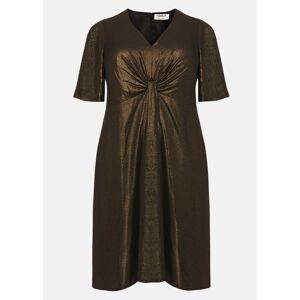 Studio 8 Wren Knot Dress, Metallic, Swing, Occasion Dress  - Gold - Size: 24