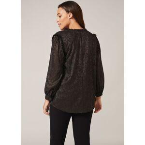 Studio 8 Tallie Shimmer Stripe Top, Black, Tops  - Black/Gold - Size: 24