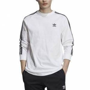 adidas Originals White 3-Stripes Long-Sleeve Top  - White - Size: M