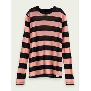 Scotch & Soda TENCEL™ long sleeve t-shirt  - Pink - Size: 10