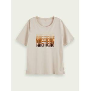 Scotch & Soda Relaxed fit short sleeve t-shirt  - Beige - Size: Extra Small