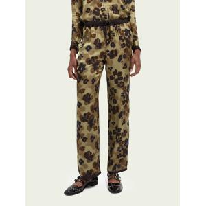 Scotch & Soda LENZING™ ECOVERO™ wide-leg trousers  - Green - Size: Extra Small