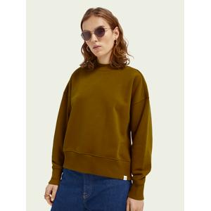 Scotch & Soda Crew-neck organic cotton-blend sweater  - Brown - Size: Large