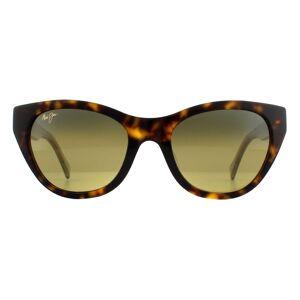 Maui Jim Sunglasses Capri HS820-10E Tortoise with Transparent Tan Bronze Polarized