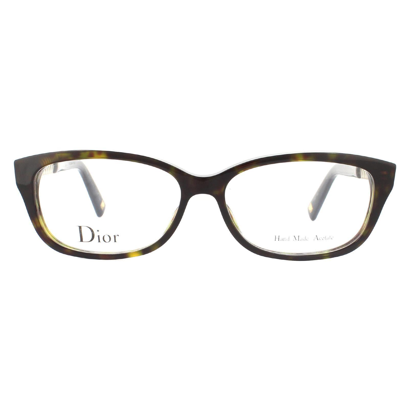 Christian Dior Glasses Frames CD3258 ANT Dark Havana and Gold Women