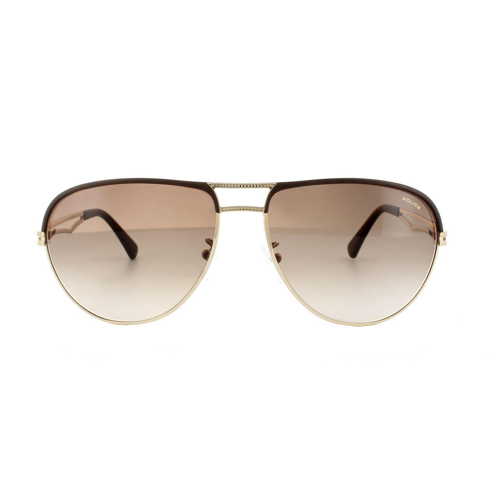 Police Sunglasses S8754 Rush 1 0F93 Rose Gold Brown Gradient