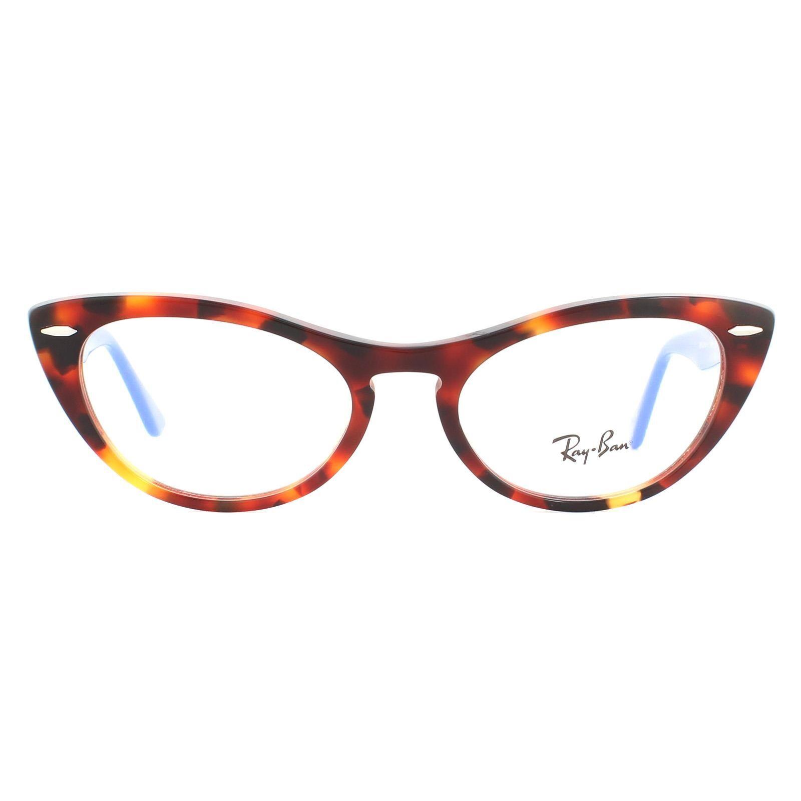 Ray-Ban Glasses Frames RX4314V Nina 5936 Havana Blue Women  - Size: 54