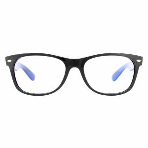 Ray-Ban Sunglasses New Wayfarer 2132 901/BF Black  Clear With Blue Light Filter 55