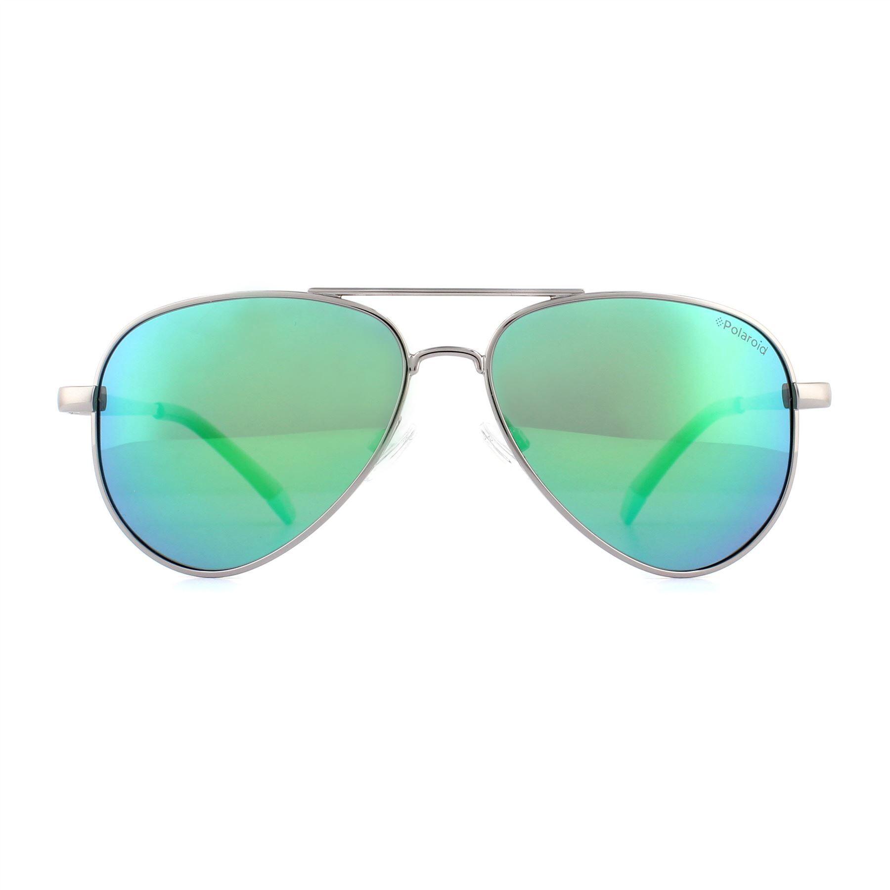 Polaroid Kids Sunglasses 8015/N/NEW 6LB 5Z Ruthenium Green Mirror Polarized