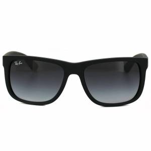 Ray-Ban Sunglasses Justin 4165 Rubber Black Grey Gradient 601/8G  - Size: 55