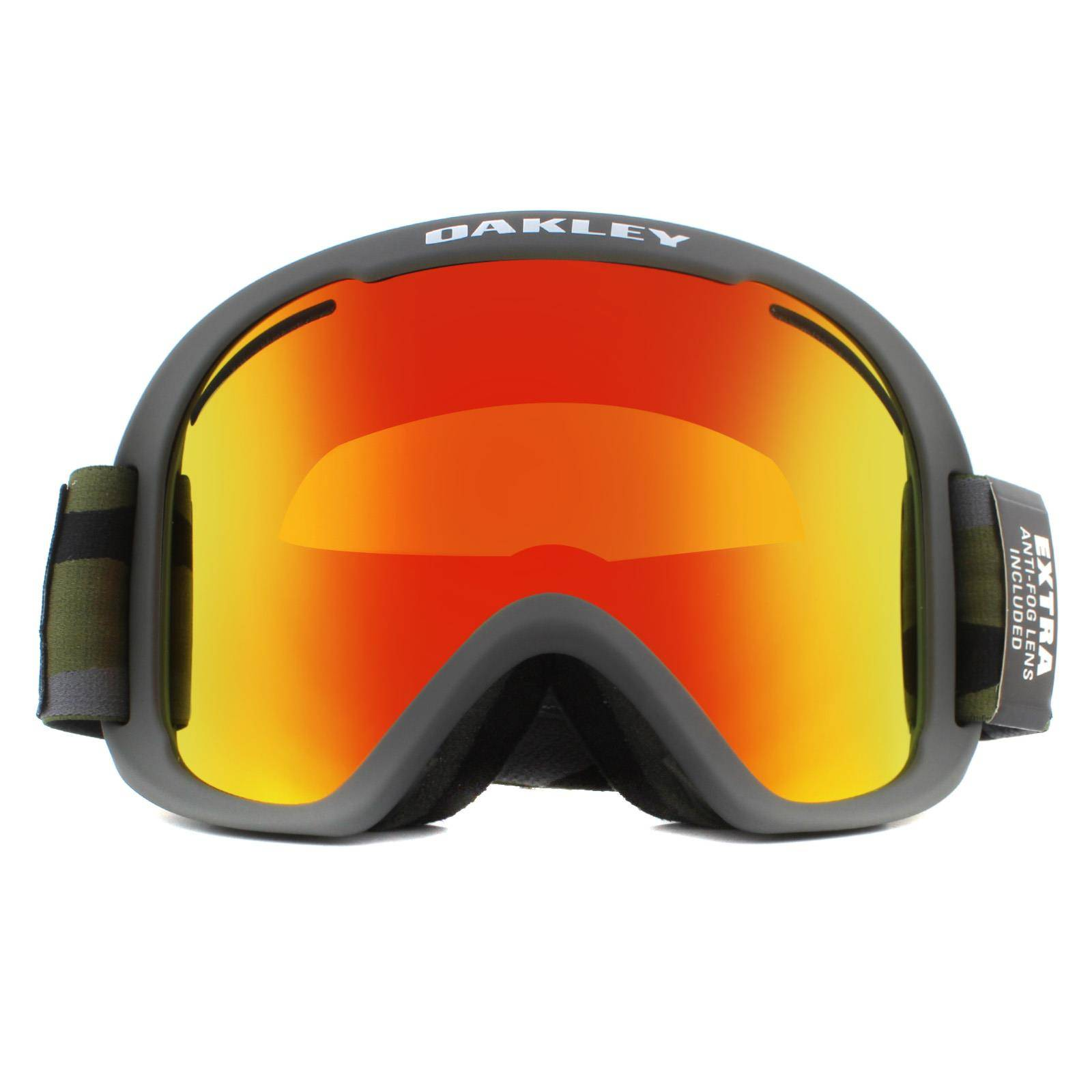 Oakley Ski Goggles O-Frame 2.0 PRO XL OO7112-14 Dark Brush Camo Fire Iridium & Persimmon