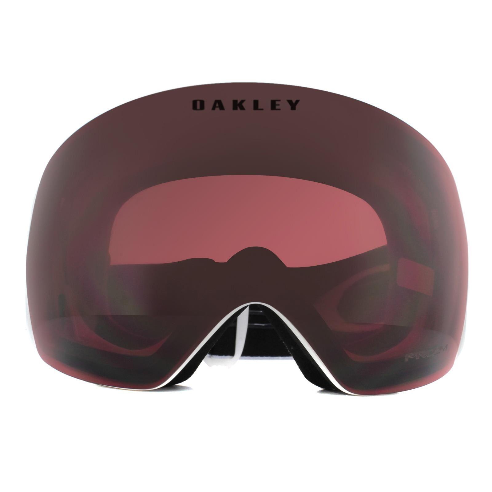 Oakley Ski Goggles Flight Deck OO7050-92 Matte White Prizm Snow Dark Grey