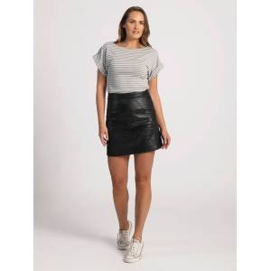 Pentlebay Womens Cap Sleeve Tee (Grey / white stripe, Size 18)