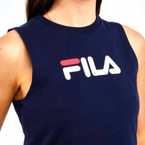 Fila Womens Inez Tie Crop Top   Peacoat/White/Red   16131-410 Colour:  - male - Size: M