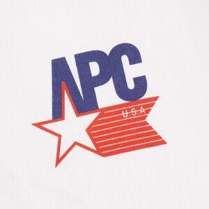 A.P.C. A.P.C Marcellus USA Logo Tee   White   H26868-AAB Colour: White  - male - Size: M