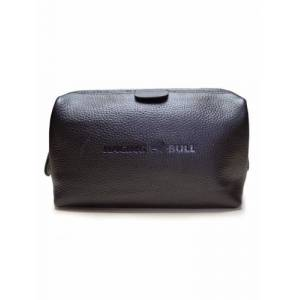 raging bull Leather Wash Bag - Black - Black, One Size