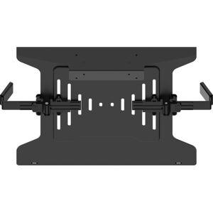 VISION PROFESSIONAL FLAT PANEL MONITOR DESK POST LAPTOP SHELF - fits to VFM-DP2B, or DPD2B, or DPQ2B. Black. Suits laptops/tablets from 240-420mm wide. Shelf 280 mm deep. **Lifetime warranty return-to-base** - VFM-DP2SHELFB