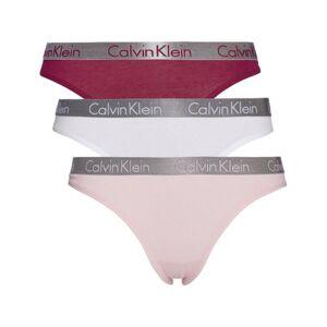 Calvin Klein Thong 3 Pack QD3590E Turtle Bay/Black/Cherry Blossom QD3590E Turtle Bay/Black/Cherry Blossom