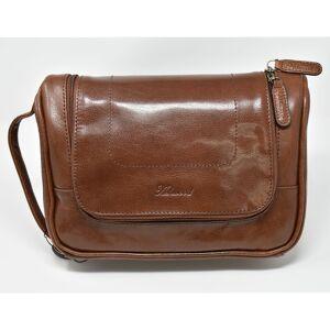 Ashwood Leather Hanging Chestnut Wash Bag