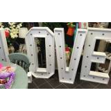 Celebration and Party Supplies LOVE LED Letters and Food Cart Hire at Celebration and Party Supplies