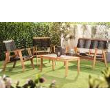 Groupon Goods Global GmbH Garden Gear Acacia Black String Sofa Set