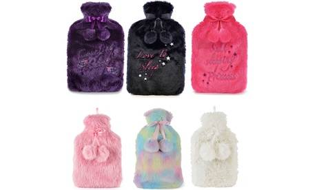 Groupon Goods Global GmbH One or Two Pom Pom Hot Water Bottles